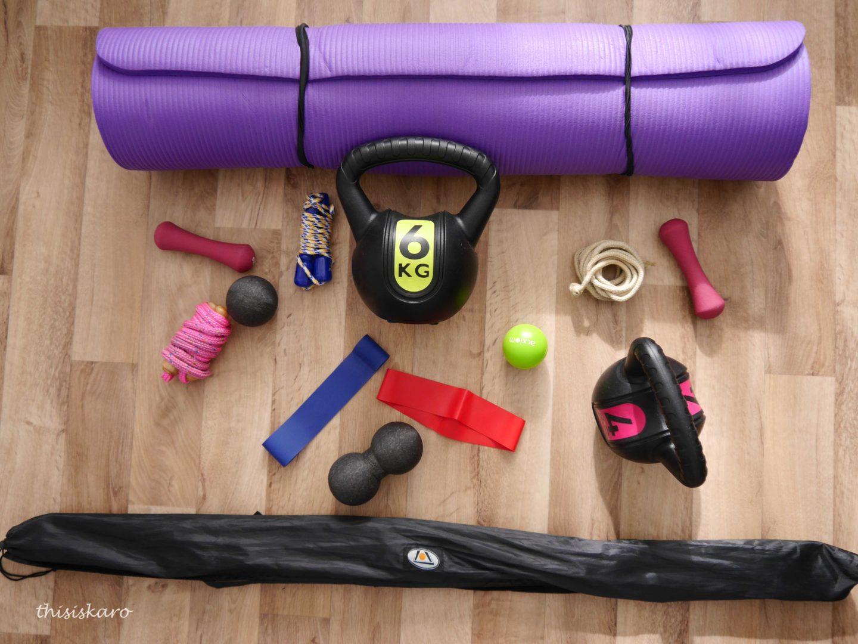 Homeequipment für Work-outs von zu Hause
