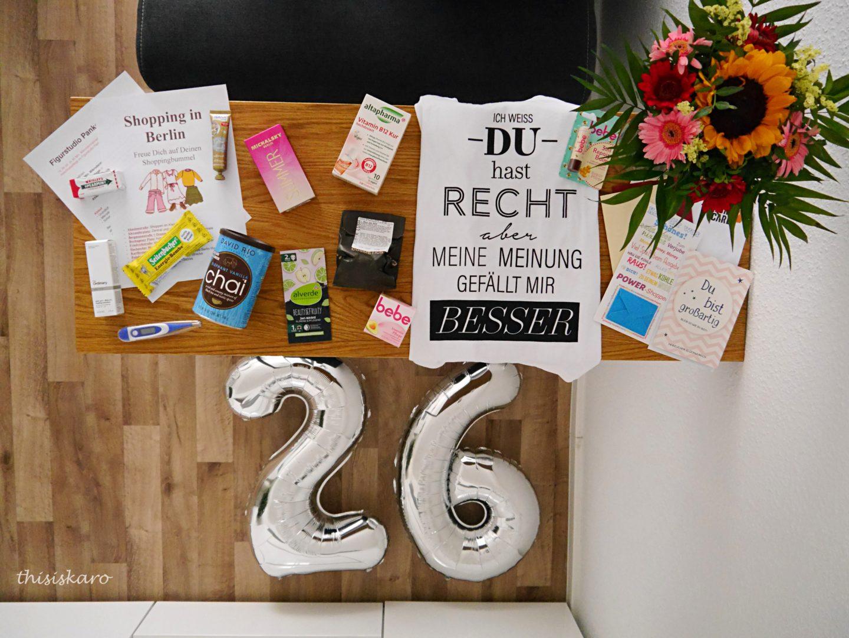 mein 26igster Geburtstag und meine Geschenke